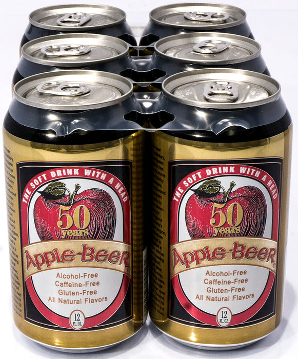 50 years Alcohol-Free Apple-Beer, 6 x 12 oz
