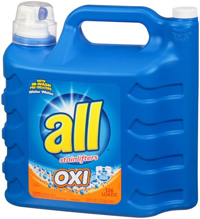 All with Stainlifter Laundry Detergent, Oxi Active, 225 oz
