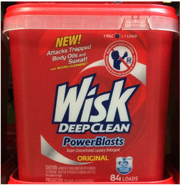 Wisk Deep Clean Power Blast Original Laundry Detergent, 4.43 lbs