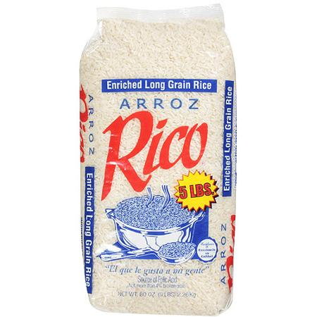Rico Enriched Long Grain Rice, 5 lbs