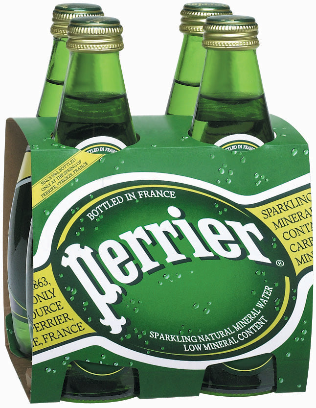 Perrier Sparkling Natural Mineral Water, 4 x 11 oz