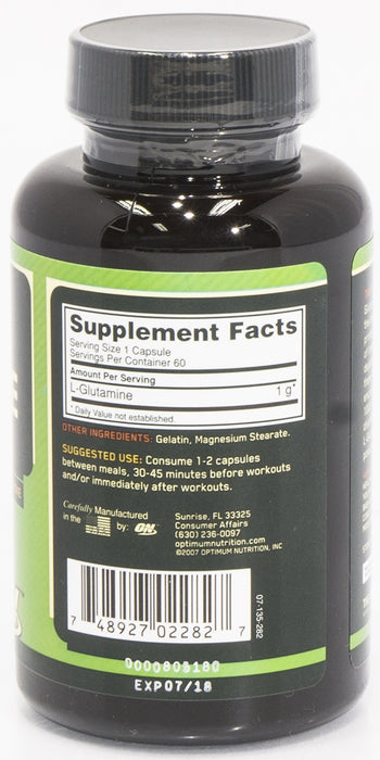 On Glutamine, 1000 MG Dietary Supplement, 60 caps