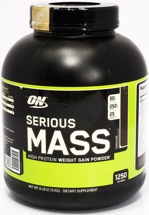 On Serious Mass High Protein Weight Gain Powder, Chocolate, 6 lbs