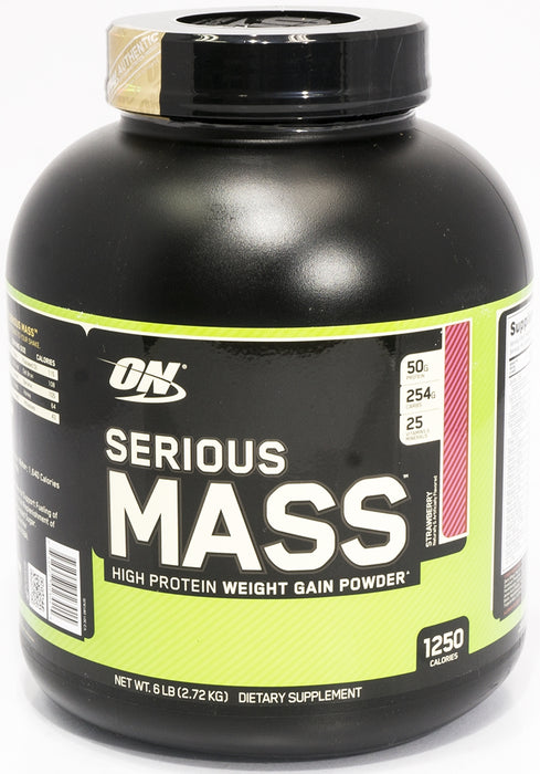 On Serious Mass High Protein Weight Gain Powder, Strawberry, 6 lbs