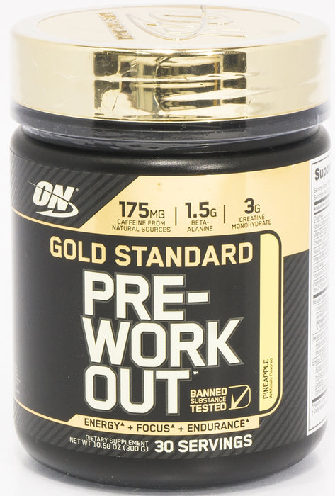On Gold Standard Pre Workout, Pineapple, 10.58 oz