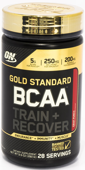 On Gold Standard BCAA Train & Recovery, Fruit Punch, 9.9 oz