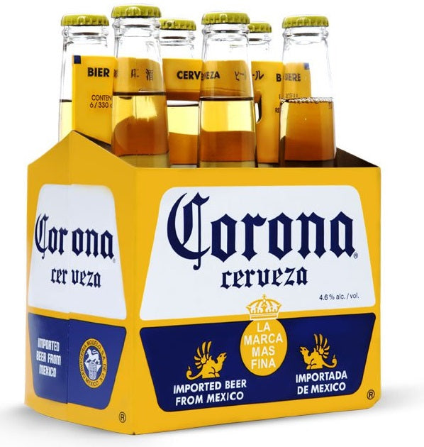 Corona Beer Bottles, 6 x 330 ml