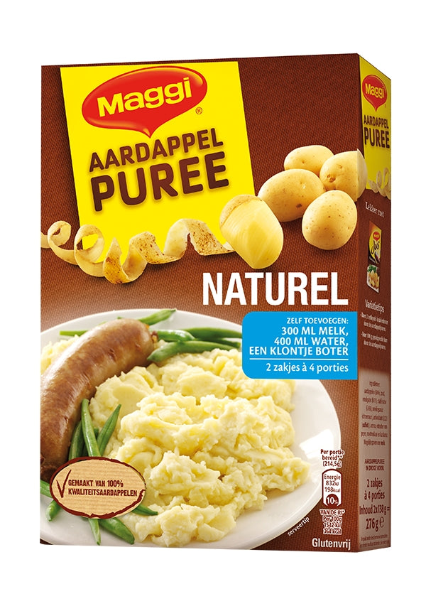 Maggi Instant Mashed Potatoes, Natural, 276 gr