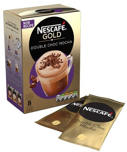 Nestle Nescafe Gold Sachets, Double Choc Mocha, 8 ct