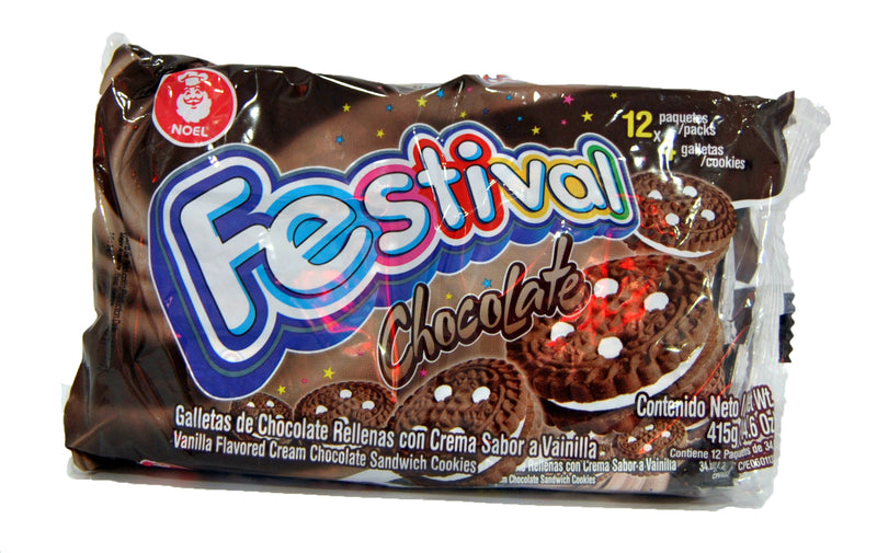 Festival Chocolate Flavored Cream Sandwich Cookies, 12 x 4 ct