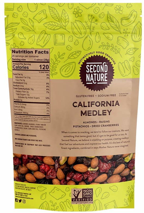 Second Nature California Medley Mixed Nuts , 26 oz