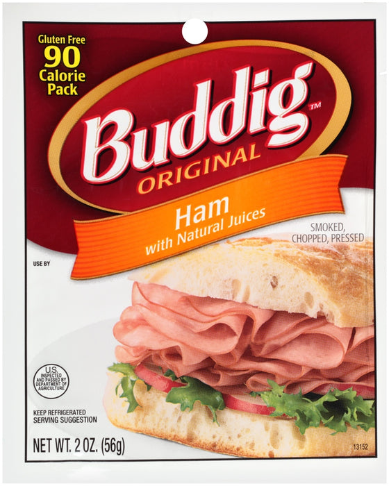 Buddig Original Ham with Natural Juices, 90 Calorie Pack, 2 oz