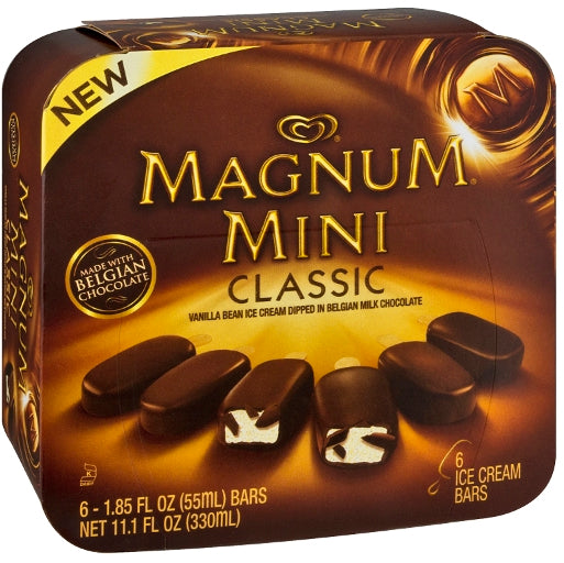 Magnum Mini Classic Ice Cream Bars, 6 ct