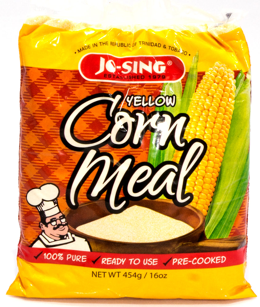 Jo-Sing Yellow Corn Meal, 100% Pure, 16 oz