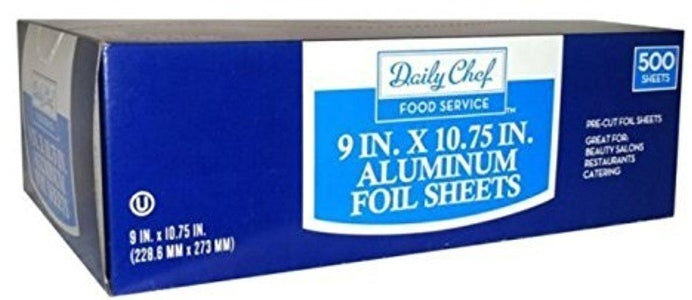 Daily Chef Foil Sheets, 9 x 10.75 in, 500 ct