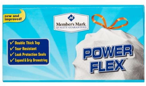 Member's Mark Tall Kitchen Drawstring Bags, 13 Gallons, 200 ct