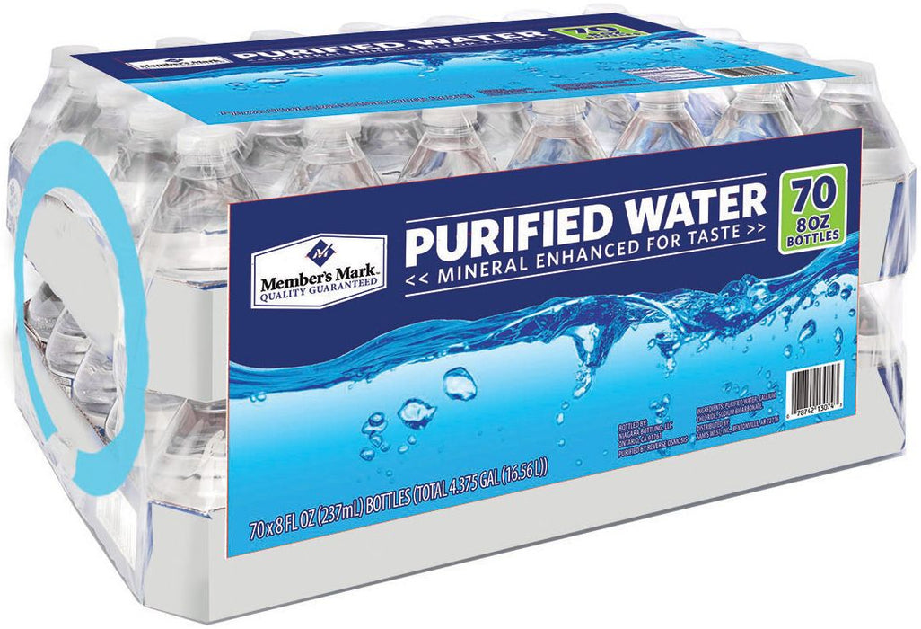 Member's Mark Purified Water Bottles, 70 x 8 oz