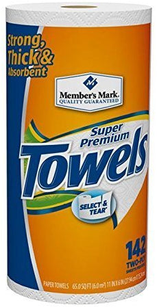 Member's Mark Premium Paper Towels Roll, 146 sheets, 2-ply, 1 roll