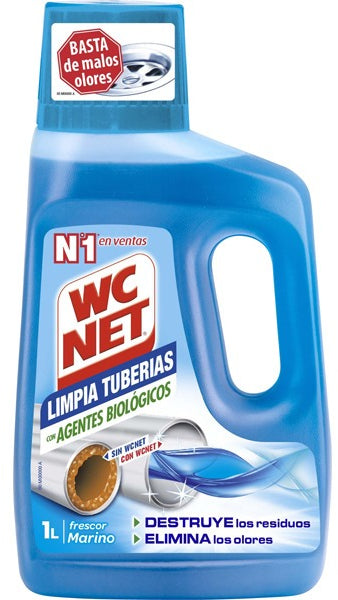 WC Net Pipe Cleaner with Biologic Agents, Marine Fresh, 1 L
