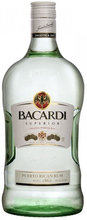 Bacardi Superior Light, Puerto Rican Rum, Smooth & Dry, 1.75 L