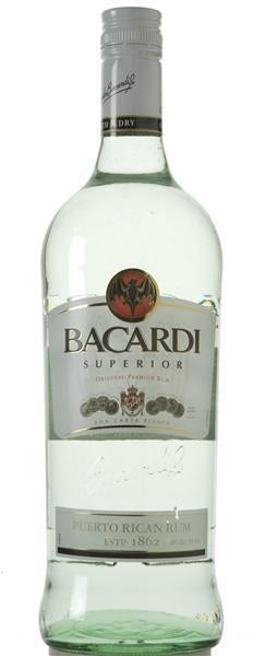 Bacardi Superior Light, Puerto Rican Rum, Smooth & Dry, 1 L