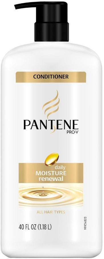 Pantene Pro-V Conditioner, Daily Moisture Renewal, All Hair Types, 40 oz