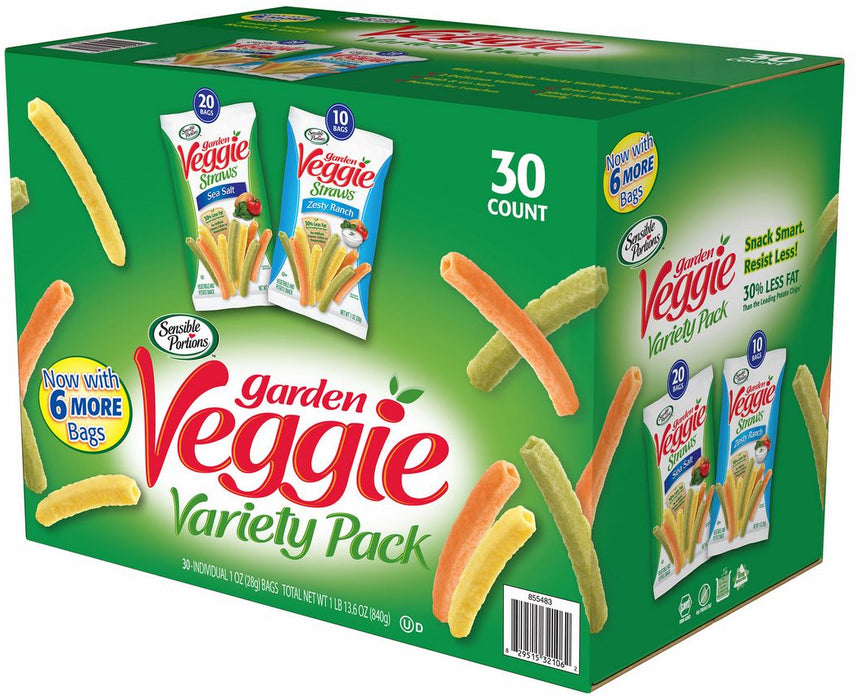 Sensible Portions Garden Veggie Variety Pack, 30 ct