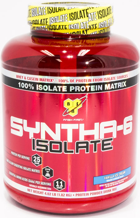 BSN Syntha 6 Isolate Protein Matrix, Vanilla Ice Cream, 4 lbs