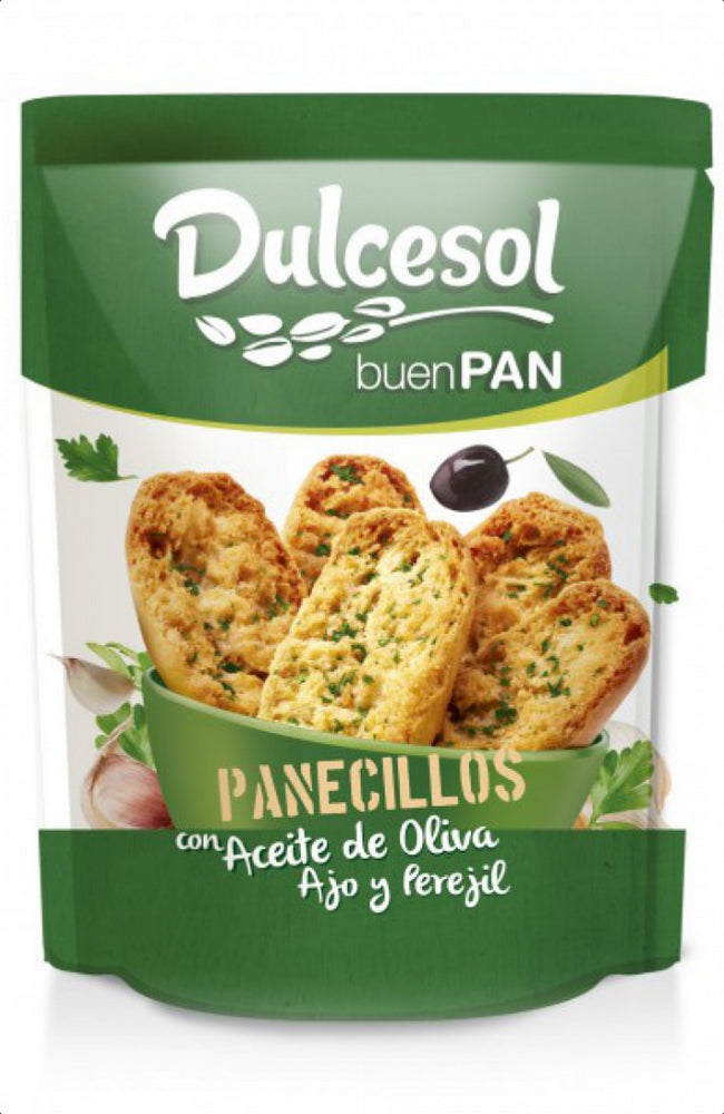 Dulcesol Panecillos Toasts with Olive Oil, Garlic and Parsley, 160 gr