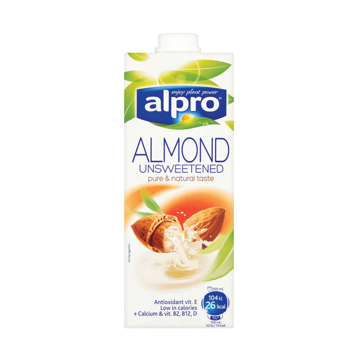 Alpro Almond Unsweetened Milk, 1 L