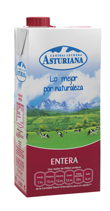 Asturiana Whole Milk (Volle Melk), 1 L