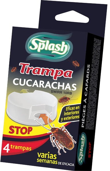 Splash Roach Trap, 4 ct
