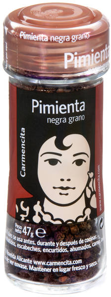 Carmencita Whole Black Pepper, 47 gr