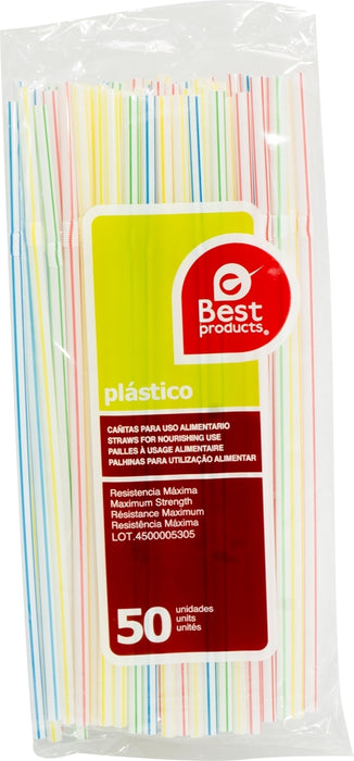 Best Products Flexible Plastic Straws, 50 ct