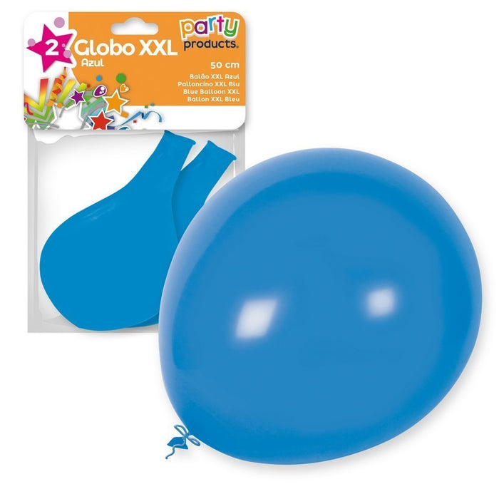 Party Products 50 cm XXL Balloons, Blue, 2 ct
