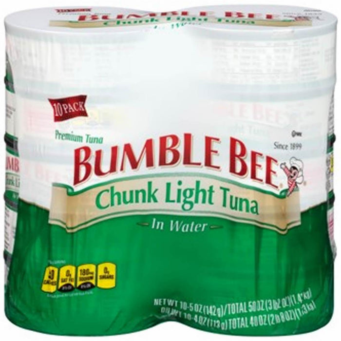 Bumble Bee Chunk Light Tuna in Water, 10 x 5 oz