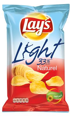 Lay's Light 33% Naturel Potato Chips, 170 gr