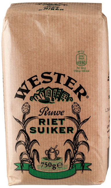 Wester Raw Cane Sugar (Rietsuiker), 750 gr
