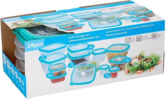 Food Storage Box Set, 24 pcs