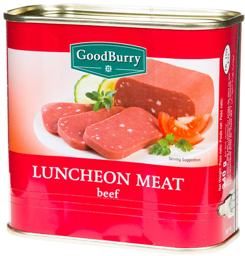 Goodburry Luncheon Meat, Beef, 340 gr