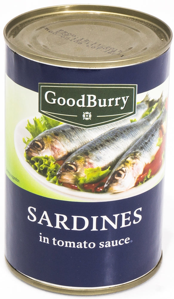 Goodburry Sardines in Tomato Sauce, 425 g
