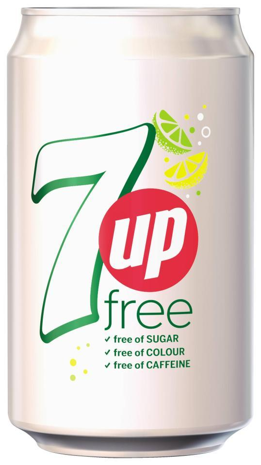 7 Up Sugar Free Can, 330 ml