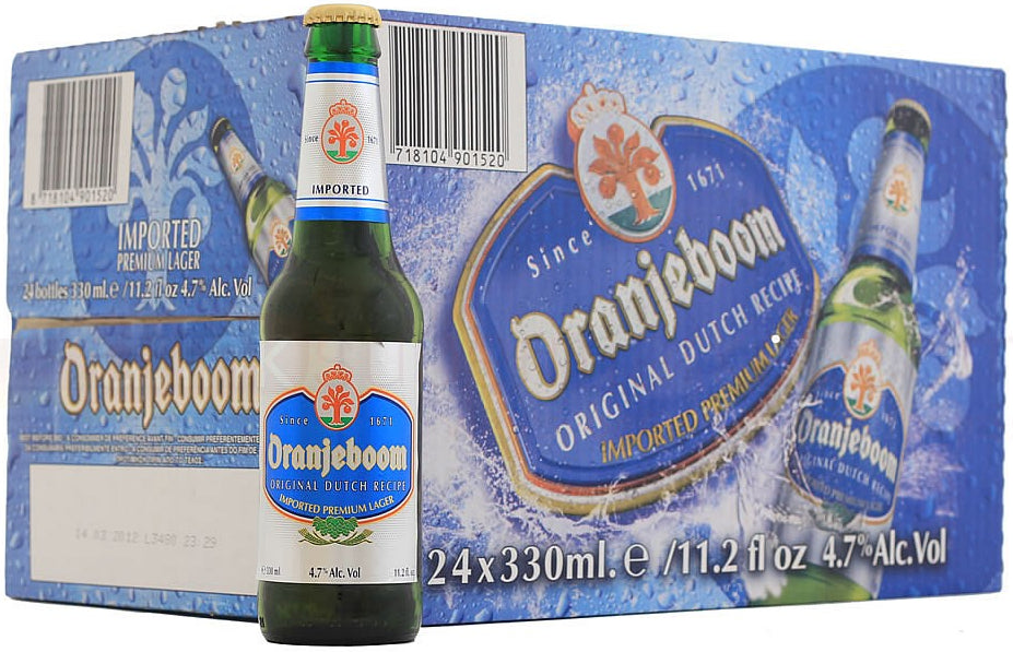 Oranjeboom Imported Beer, Original Dutch, 24 x 330 ml