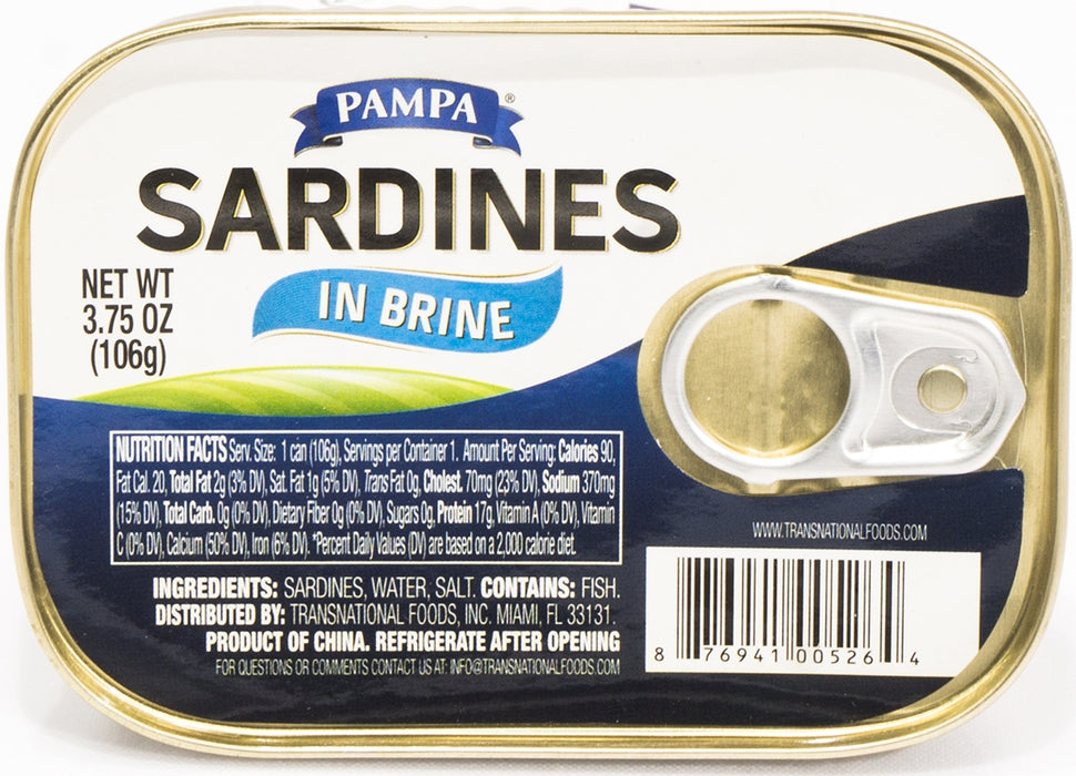 Pampa Sardines in Brine, 3.75 oz