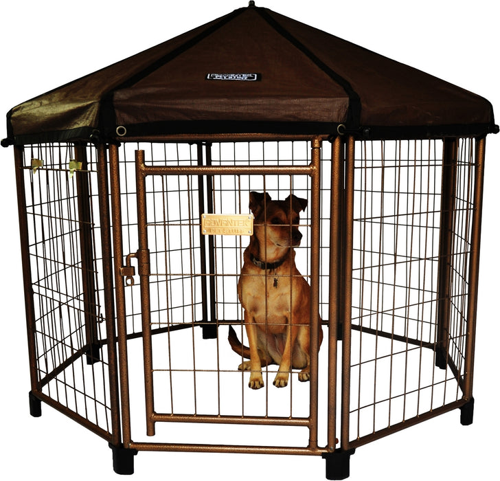Advantek Pet Gazebo Modular Outdoor Dog Kennel, 4 x 4 x 4 ft