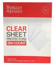 Berkley Jensen Clear Sheet Protectores, 250 ct