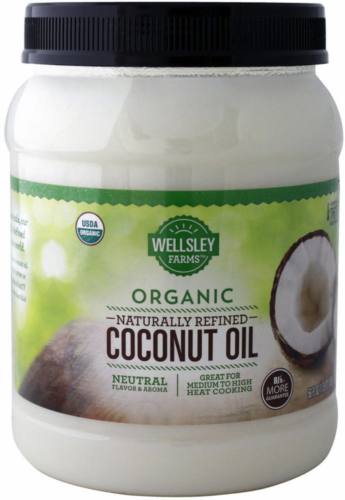 Wellsley Farms Coconut Oil, Organic, Naturally Refined, 56 oz