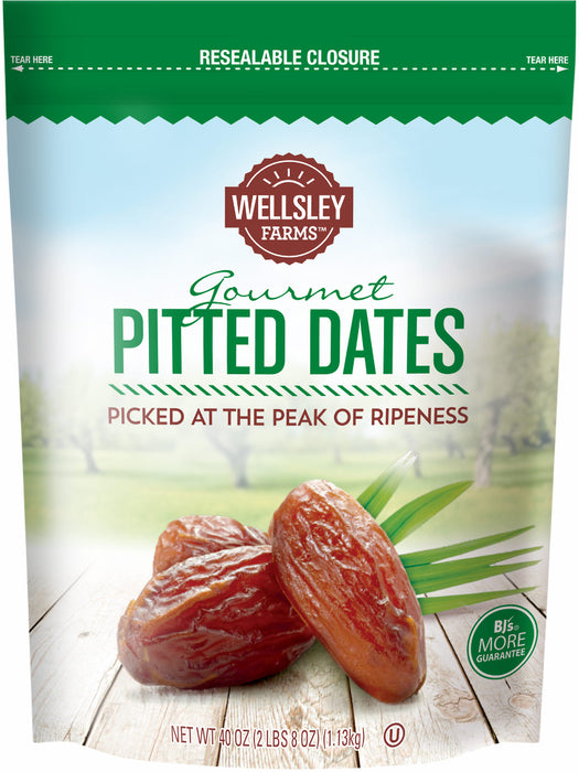 Wellsley Farms Gourmet Pitted Dates, 40 oz