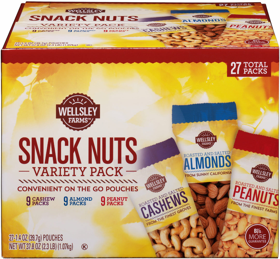 Wellsley Farms Snack Nuts Variety Pack, 27 ct - 1.4 oz
