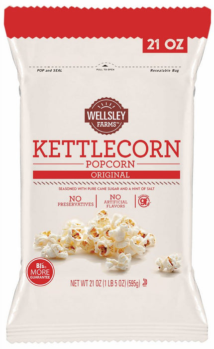 Wellsley Farms KettleCorn Original Popcorn, 21 oz